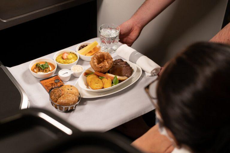 British Airways serves traditional roast dinner onboard