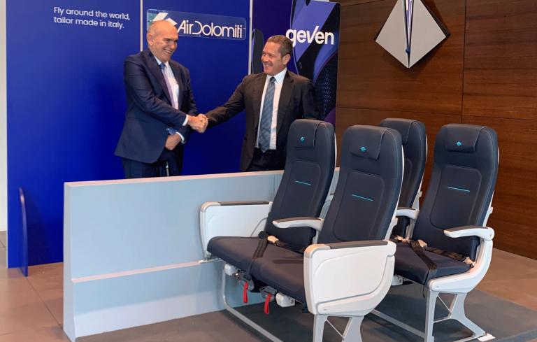 Air Dolomiti renews fleet interiors with Geven seats